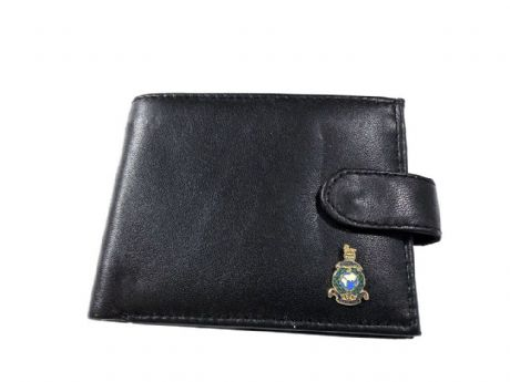 Marines genuine Leather wallet featuring an enamel badge of the Royal Marines. Great gift idea.